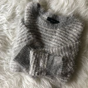 Soft Gray Fluffy Sweater